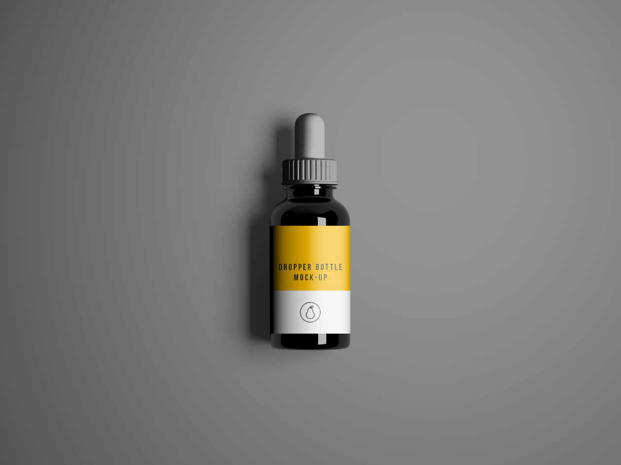 Photoshop Dropper Bottle Mockup