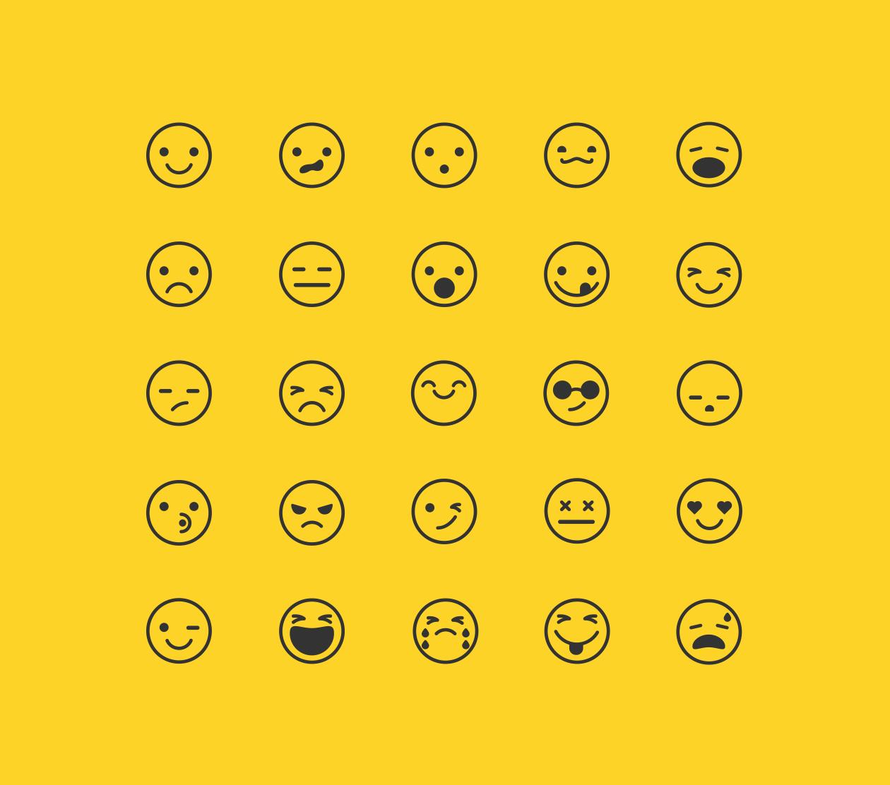 25 Emoticon Free Icons