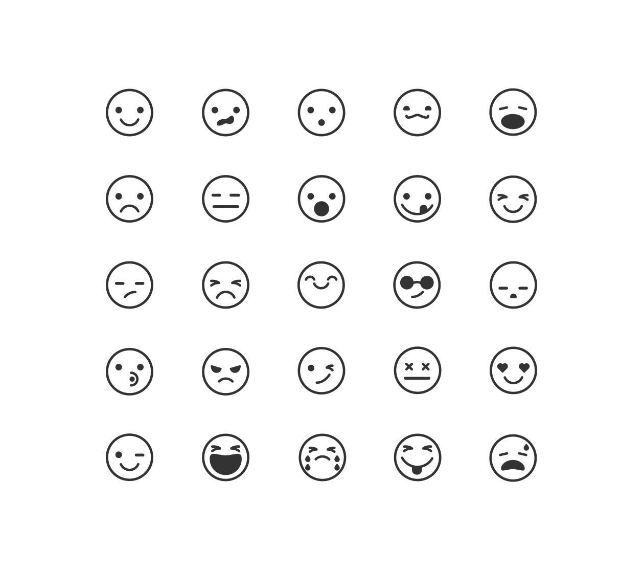 line emoticon icons