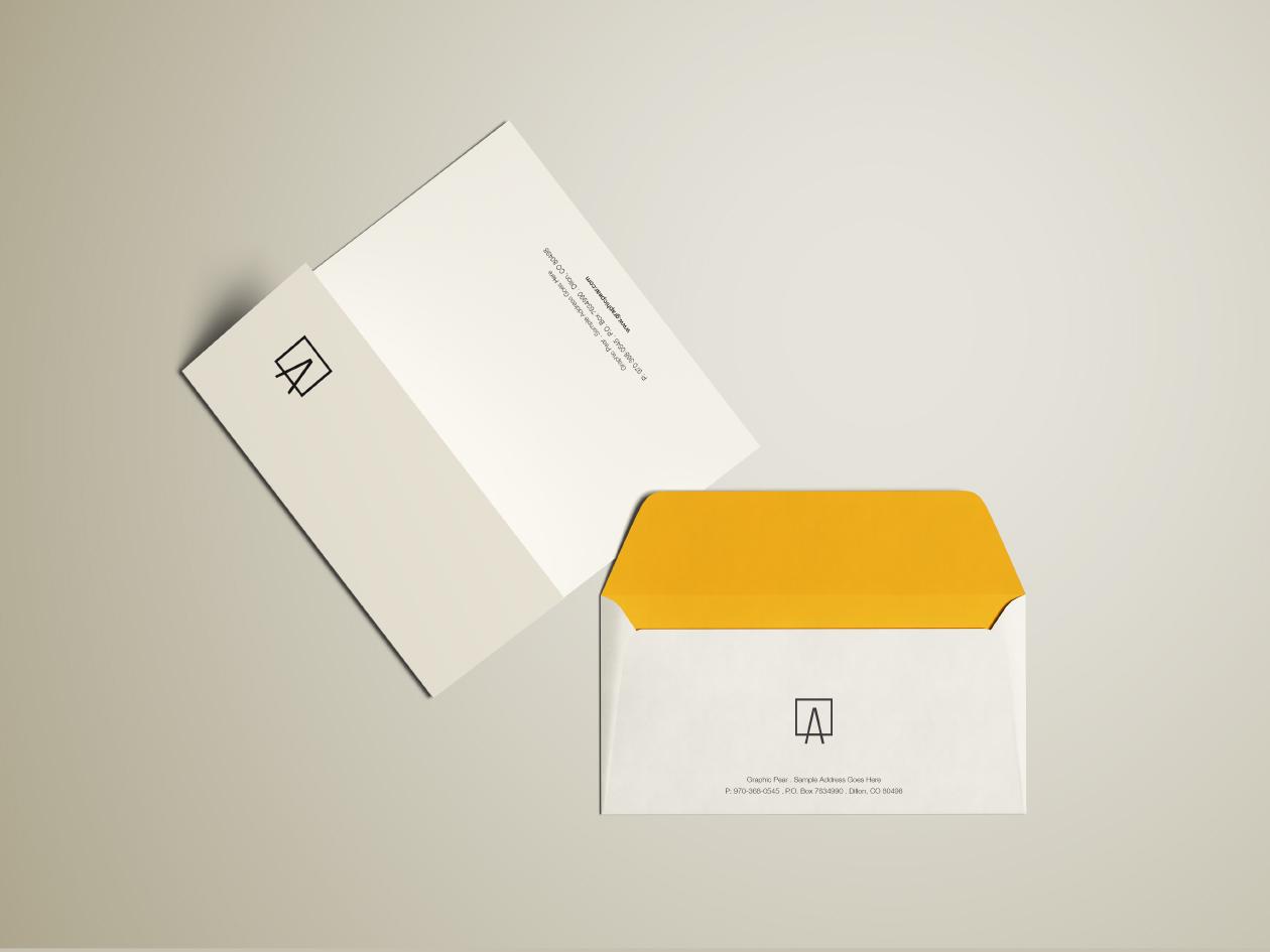 Envelope Amp Letterhead Mockup