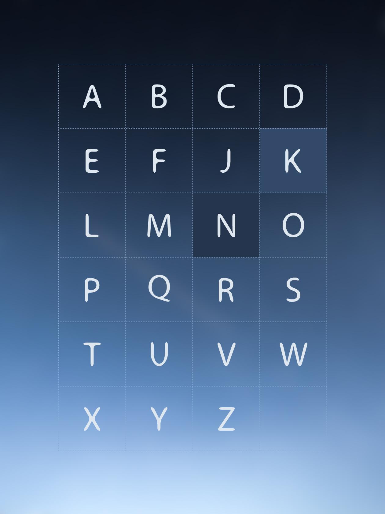 melte font alphabets