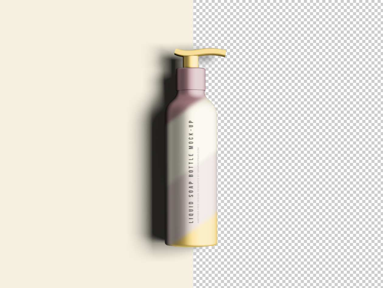 Free Soap Bottle Mockup