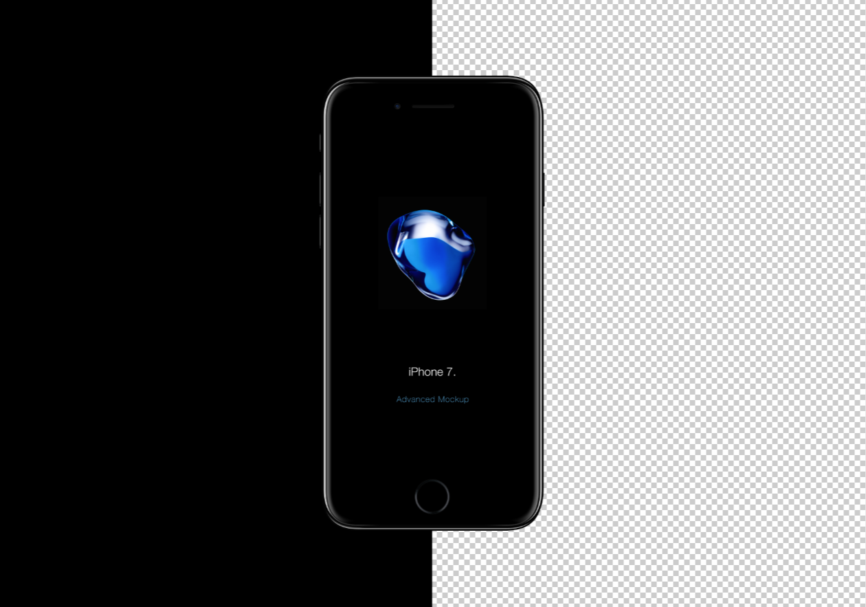 free iphone 7 mockup psd. Black Bedroom Furniture Sets. Home Design Ideas