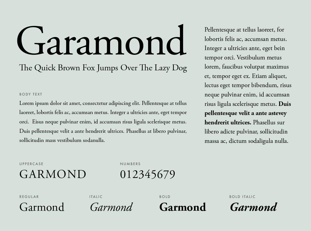 Best Font For Resume Garamond