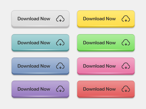 3D Download Buttons psd