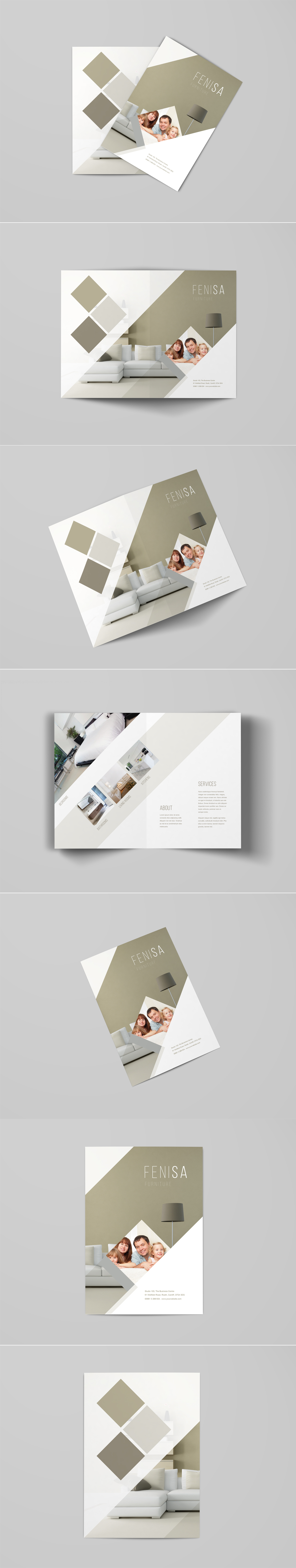 A4 Bi-Fold Brochure PSD