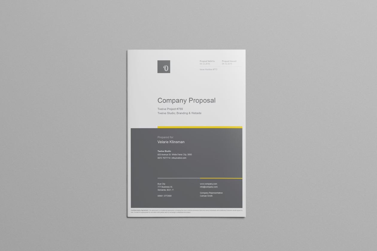 Free Company Proposal Template  Company Proposal Template