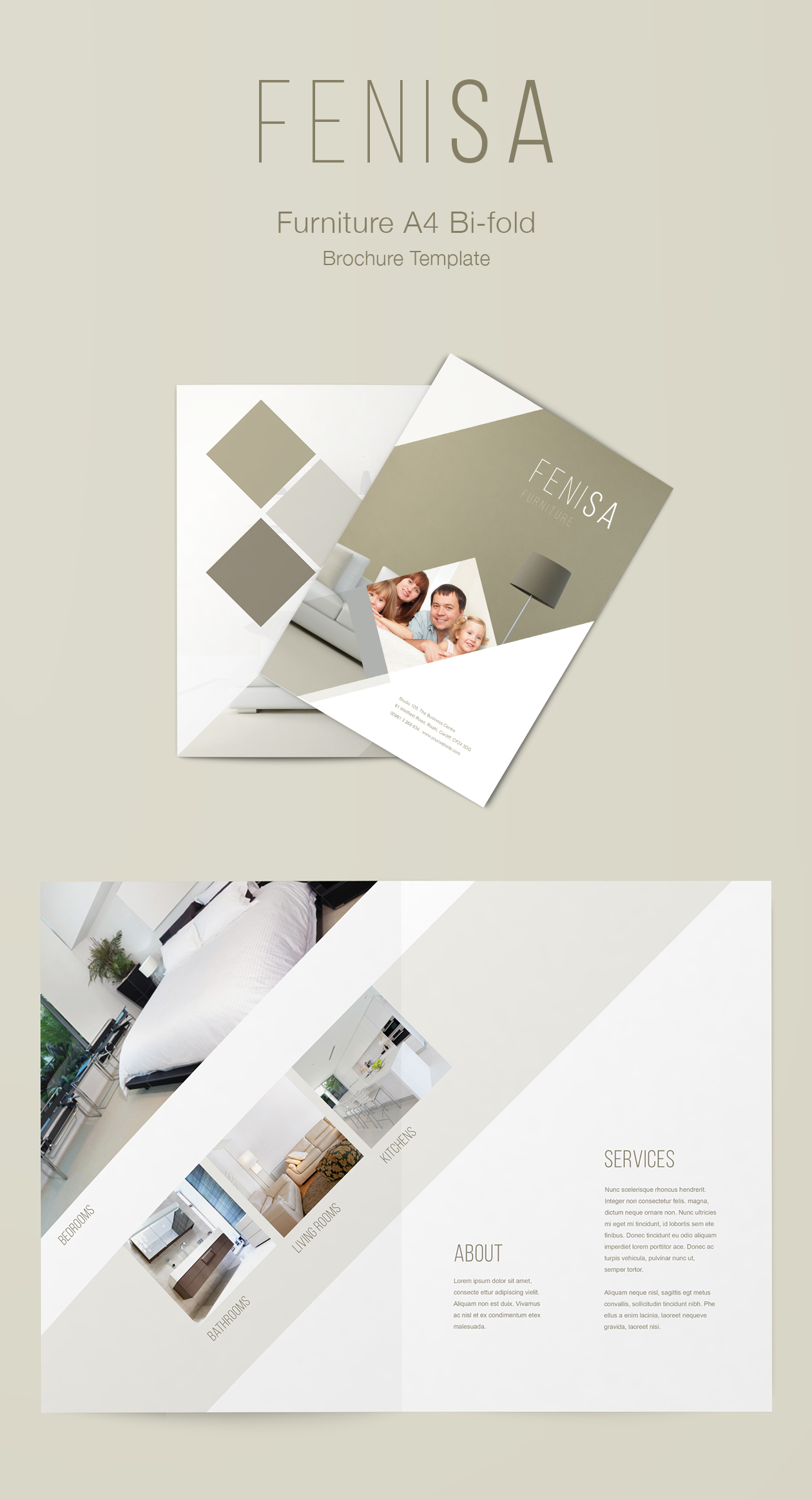 Furniture Brochure Template A4 Bifold