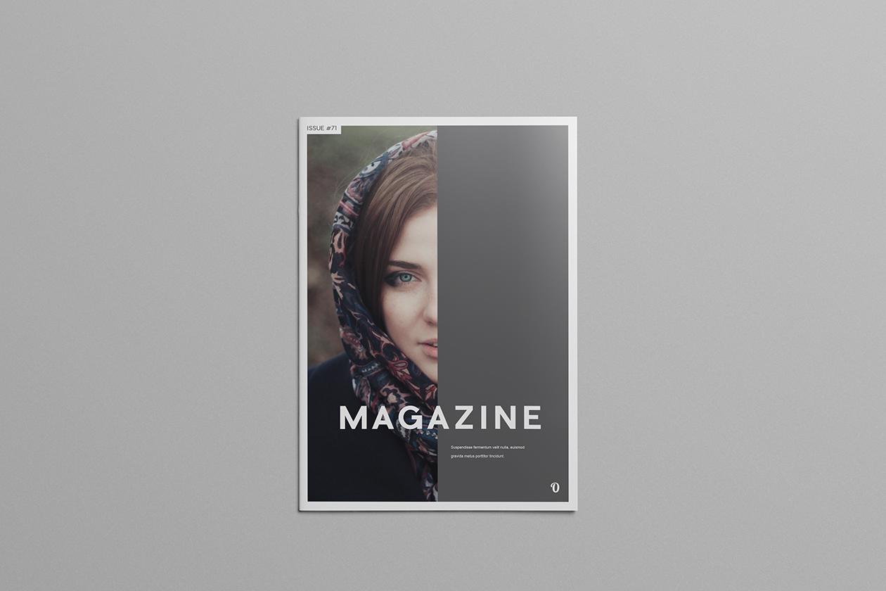 Simple Illustrator Magazine Template