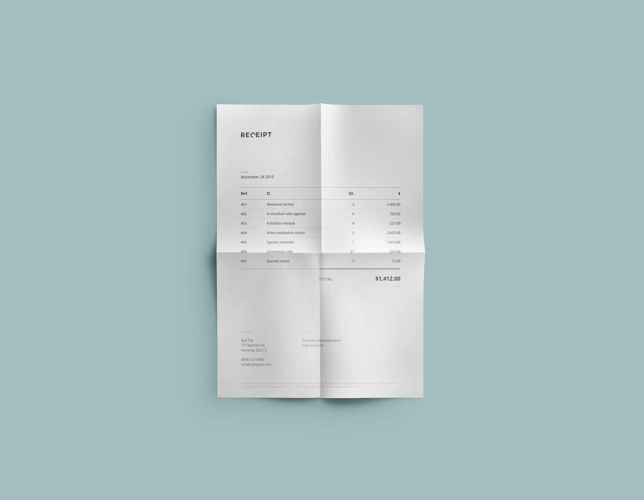receipt template design. Black Bedroom Furniture Sets. Home Design Ideas