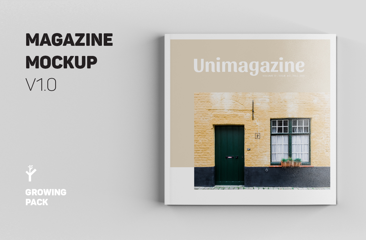 Top Square Magazine Mockups