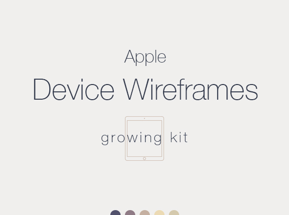 Apple Device Wireframes