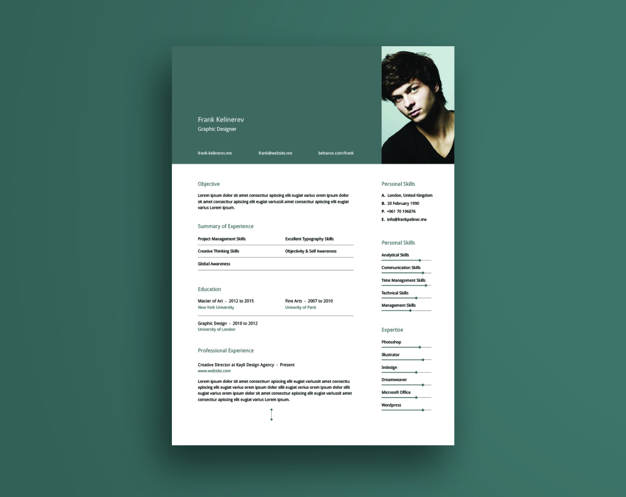 Creative Resume Template  Creative Resume