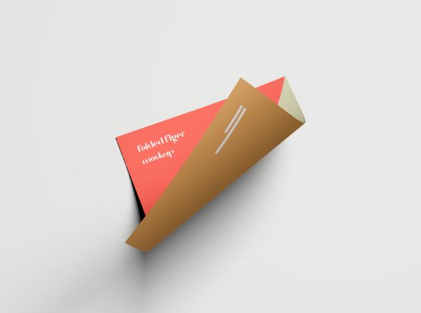 Folded Flyer Mockup