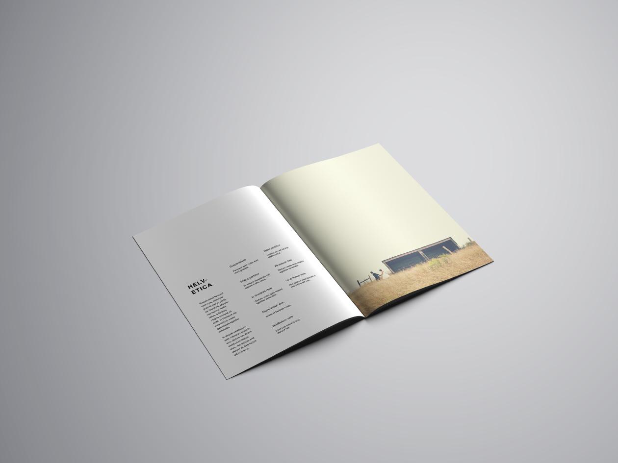 A4 Brochure Mockup - Inside Perspective