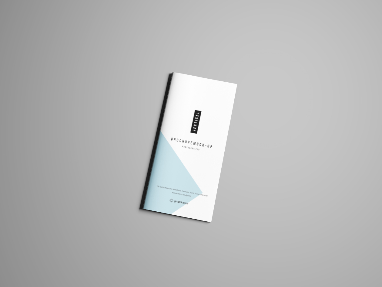 Vertical Brochure Mockup - Cover
