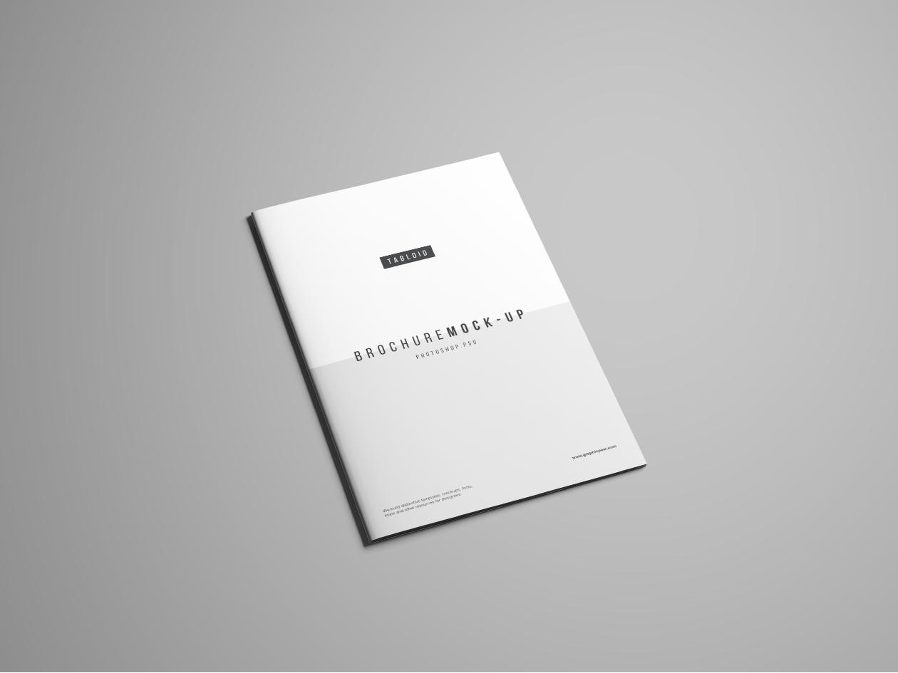 Tabloid Brochure Mockup - Perspective