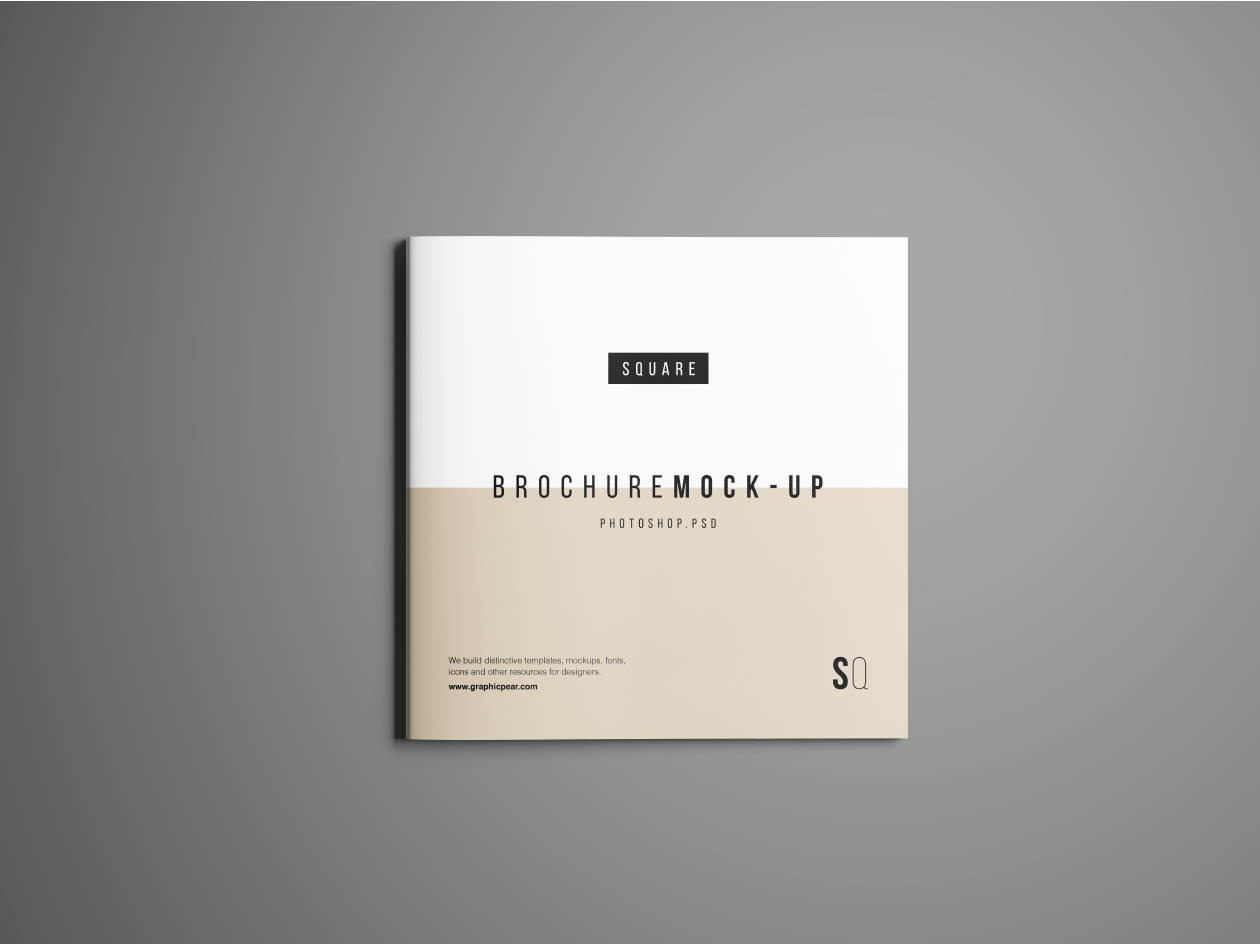 square brochure mockup psd