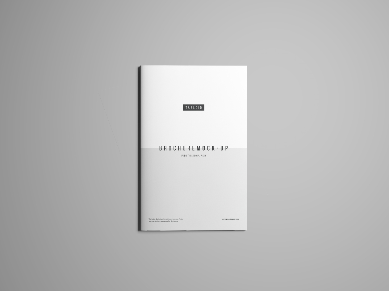 Tabloid Brochure Mockup - Top