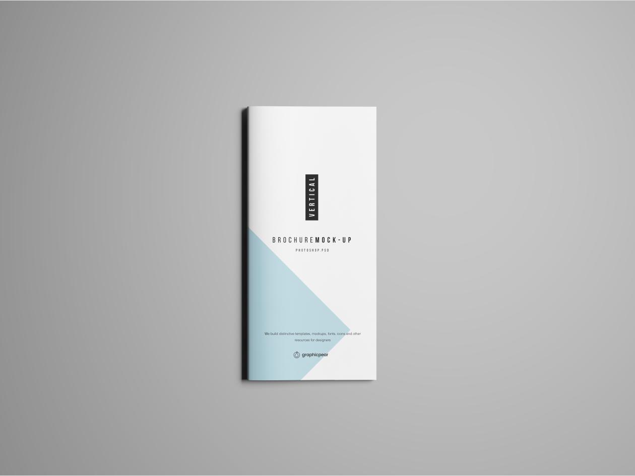 Vertical Brochure Mockup - Front