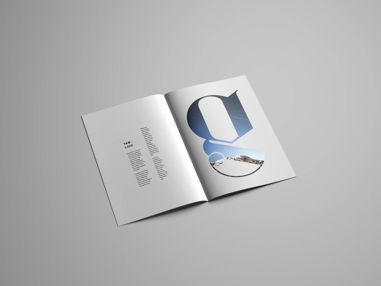 Tabloid Brochure Mockup PSD