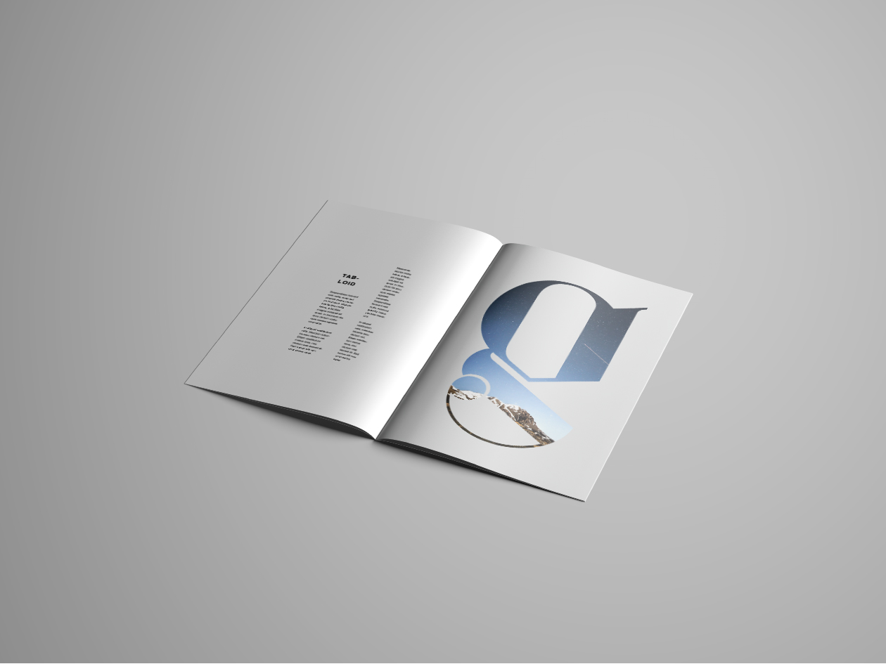 Tabloid Brochure Mockup - Inside Perspective