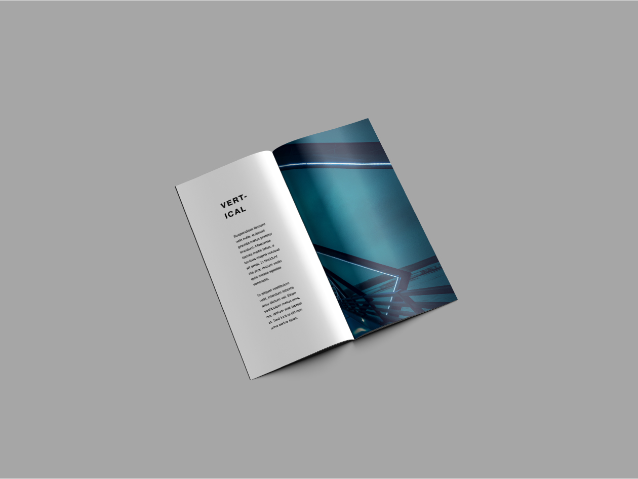 Vertical Brochure Mockup - Perspective