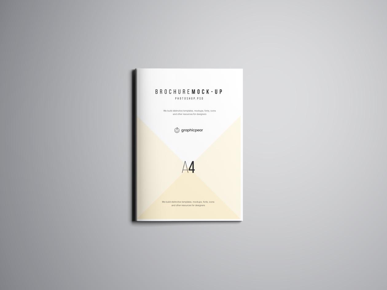 A4 Brochure Mockup - Top
