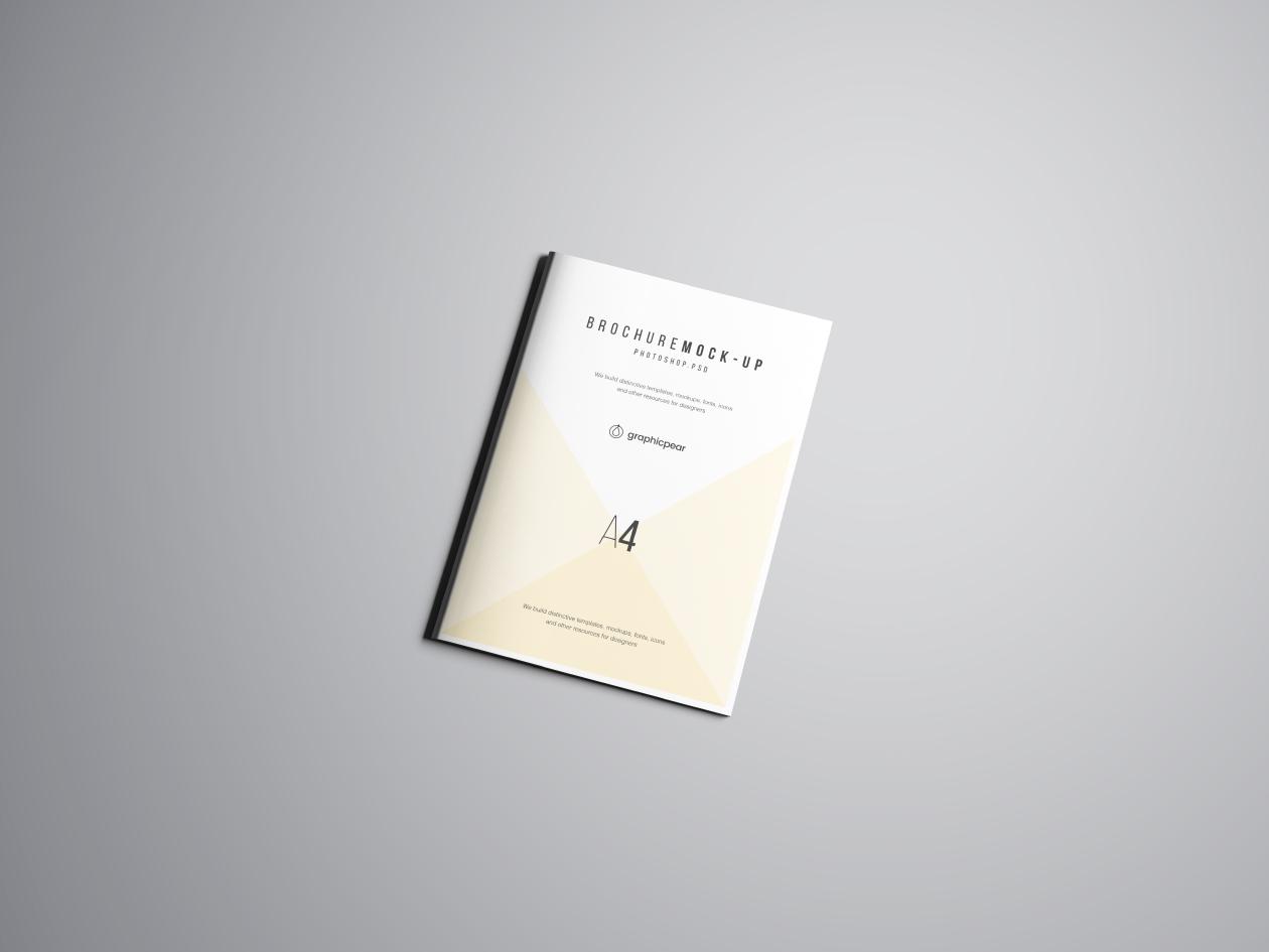 A4 Brochure Mockup - Perspective