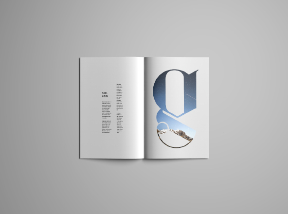 Tabloid Brochure Mockup