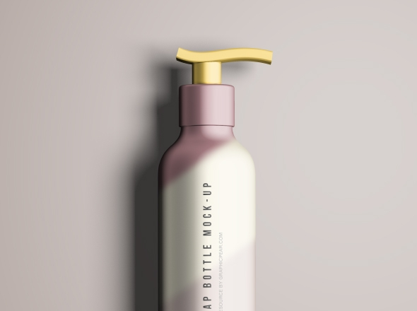 Liquid Soap Bottle Mockup