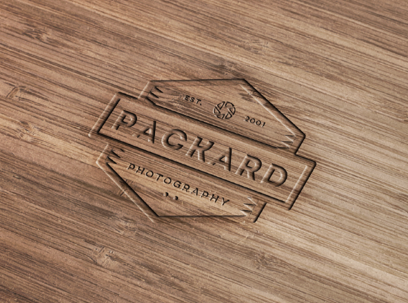 Wood Engraved Mockup