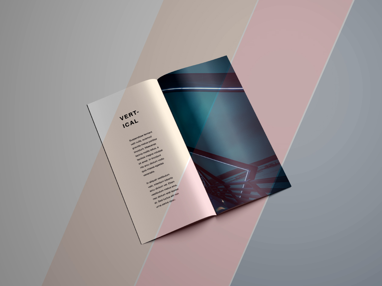 Vertical Brochure Mockup - Photo