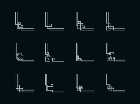 Geometric Corner Design Elements