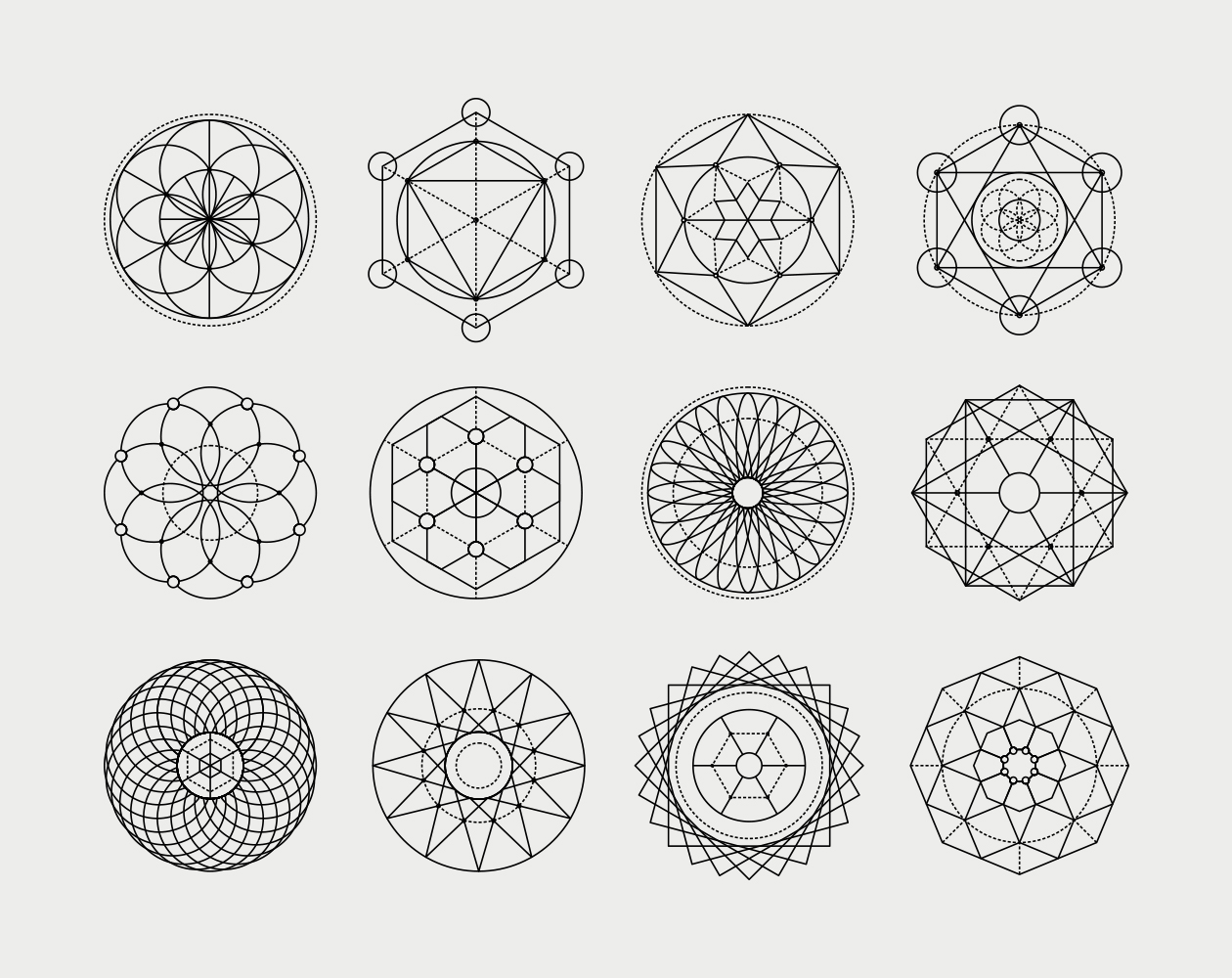 Sacred Geometric Vector Shapes