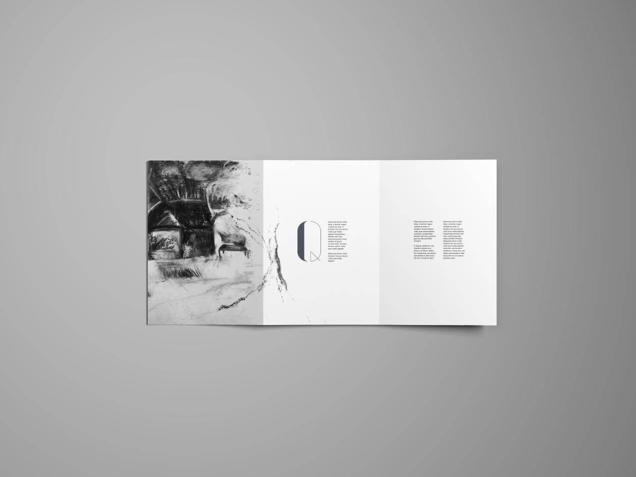 smart tri-fold brochure mockup