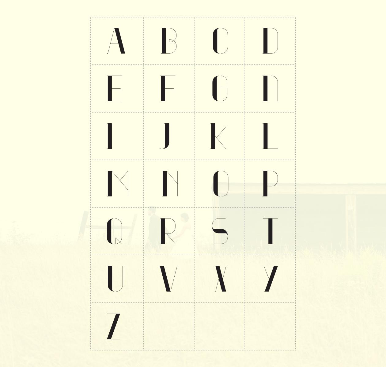 Nomes Font Alphabet