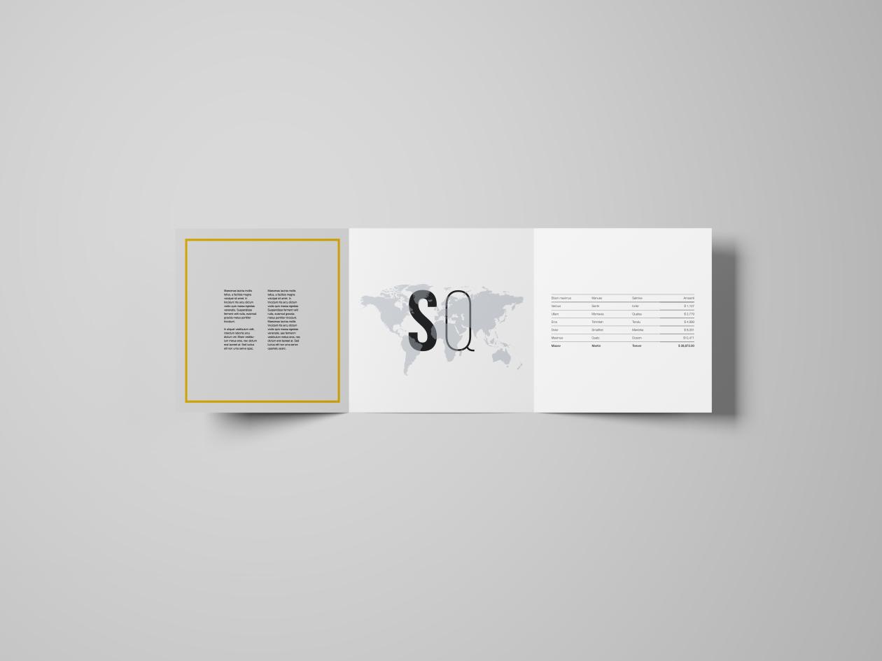 TriFold Square Brochure Mockup
