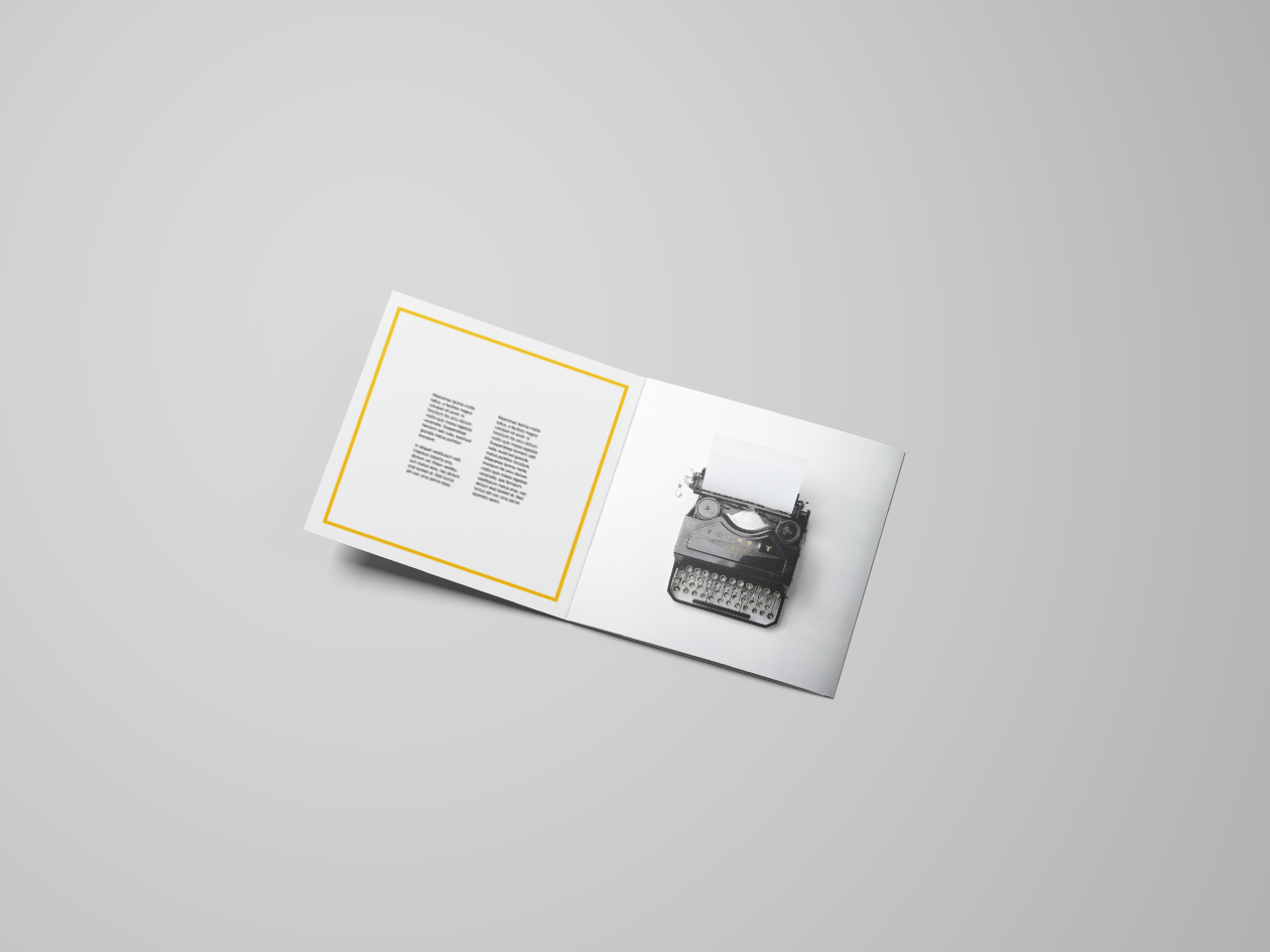 TriFold Square Flyer Mockup