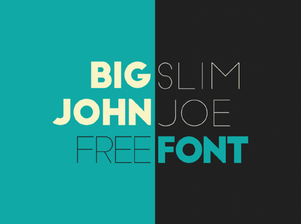 Big John   Slim Joe Free Fonts