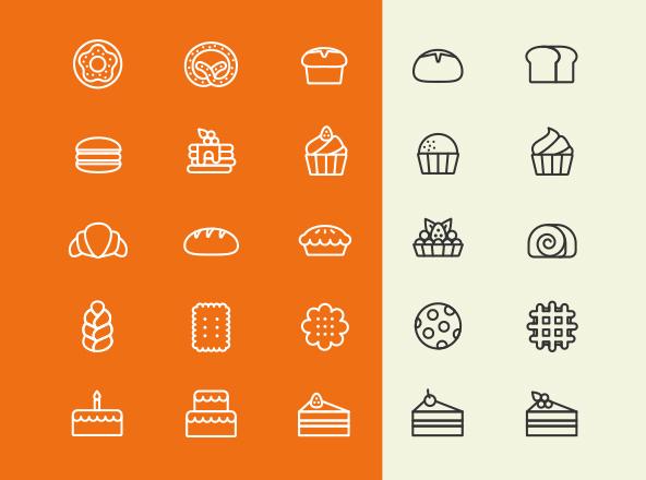 25 Bakery Icons
