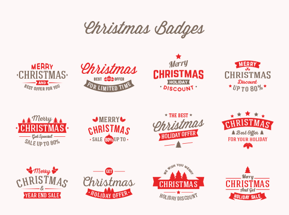 Christmas Offer Badges