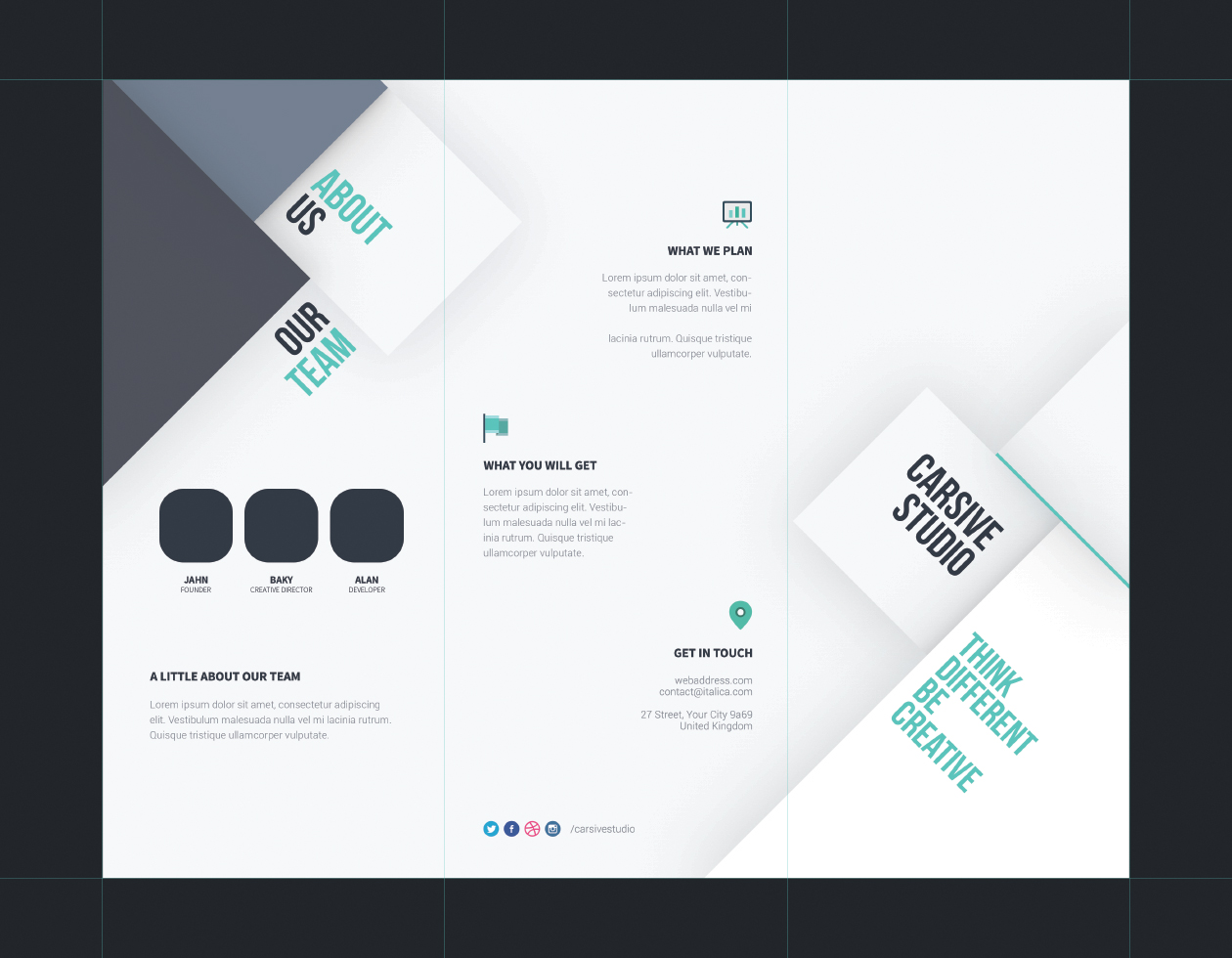 Tri fold brochure template for Brochures design templates