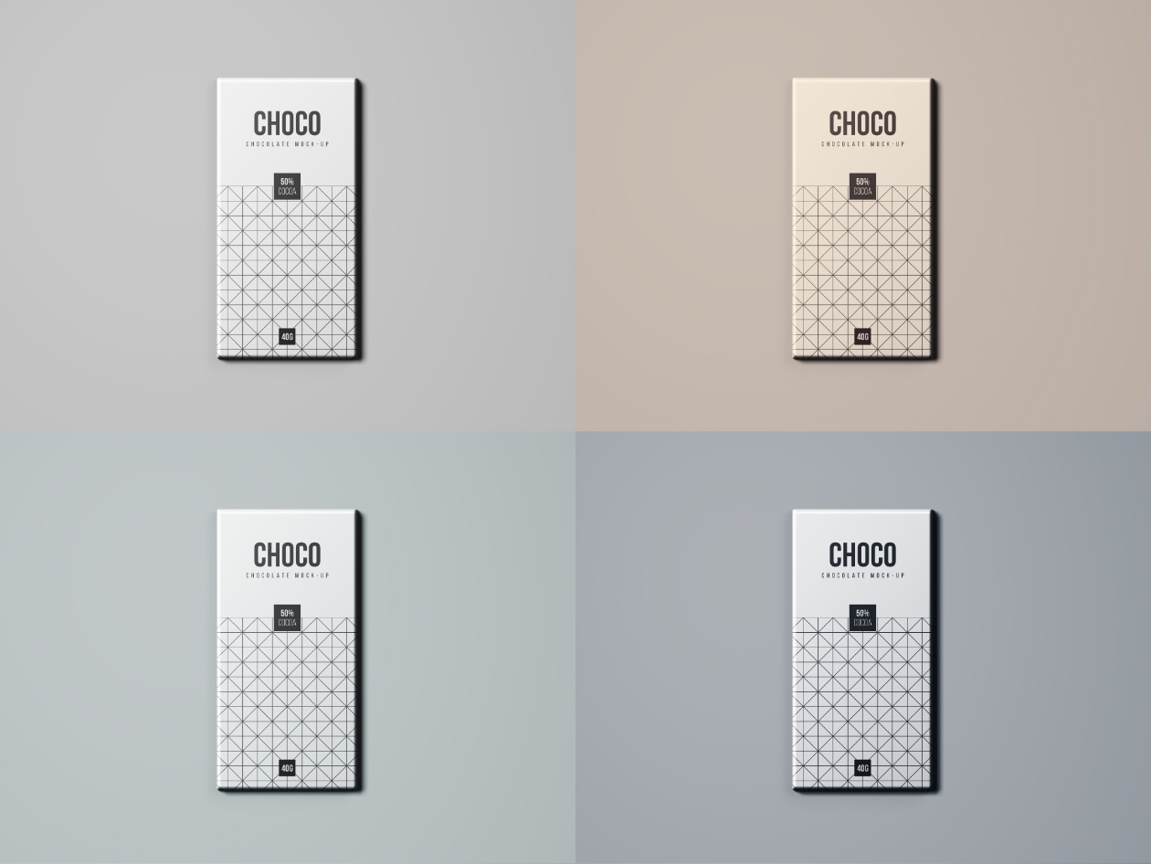Chocolate Package Mockup Filters