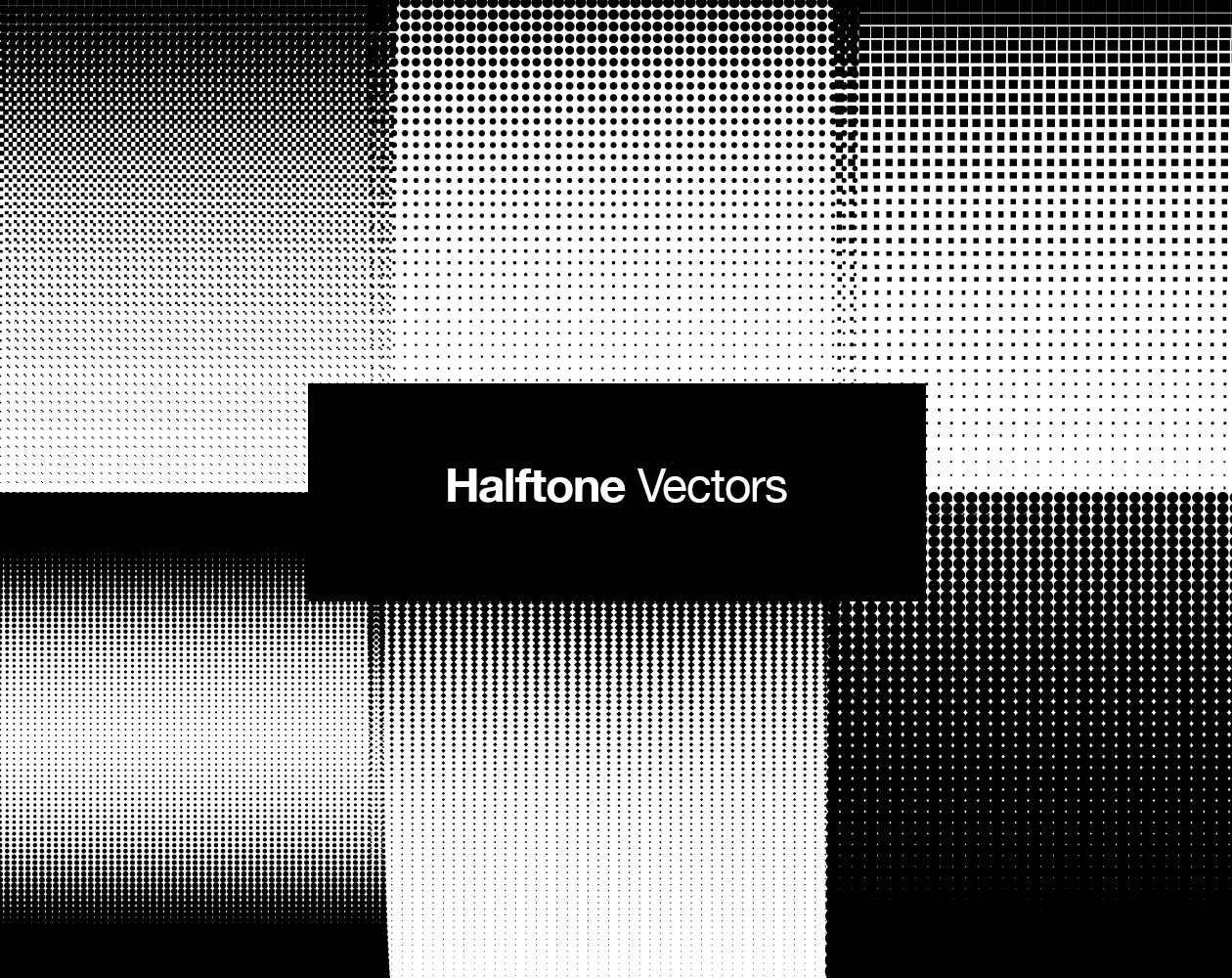 Halftone Retro Vectors