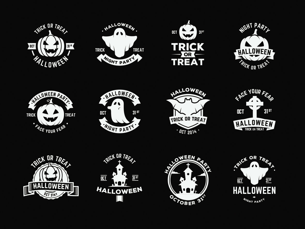 Halloween Vector Badges