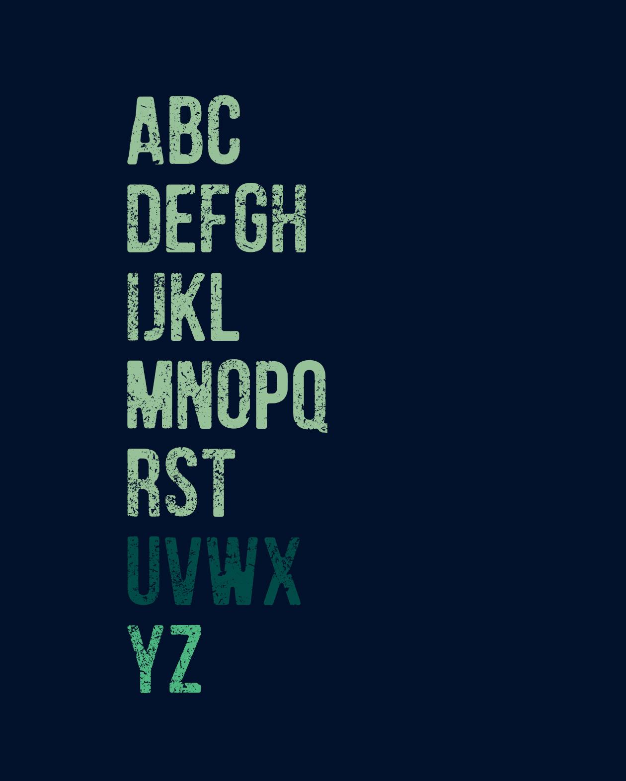 Humger font