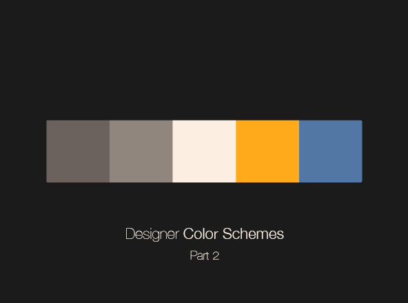 Designer Color Schemes - Part 2