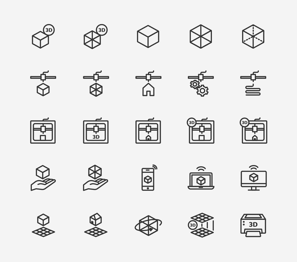 3d printing  u0026 printer icons