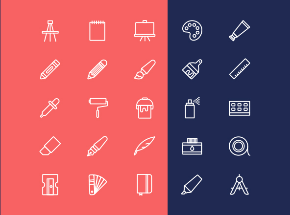 art-tools-icons